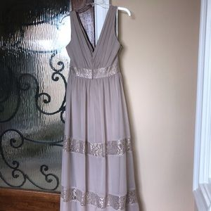 David's Bridal Gold Bridesmaid Formal Dress